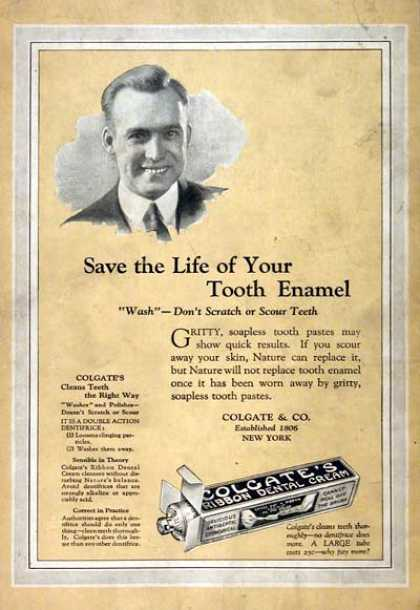 Colgate Dental Toothpast (1922)