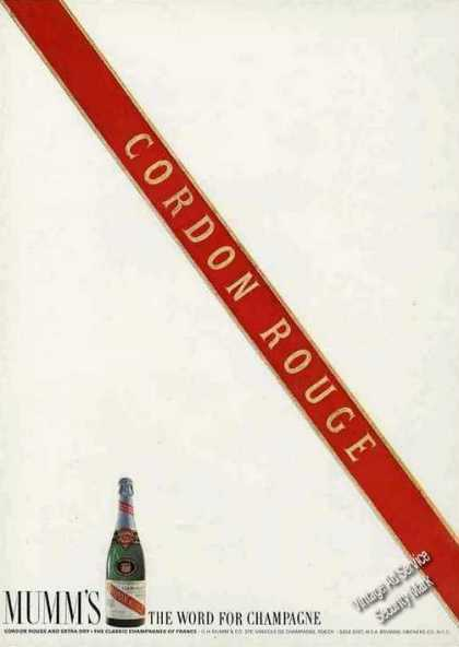 "Cordon Rouge ""Mumm's the Word for Champagne"" (1964)"