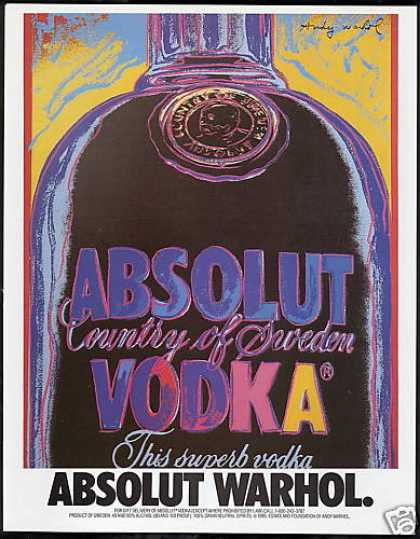 Absolut Vodka Andy Warhol Art (1990)