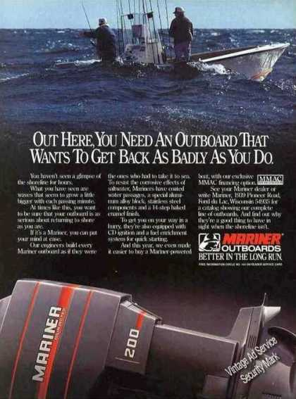 Mariner Outboards Fond Du Lac Wi (1985)