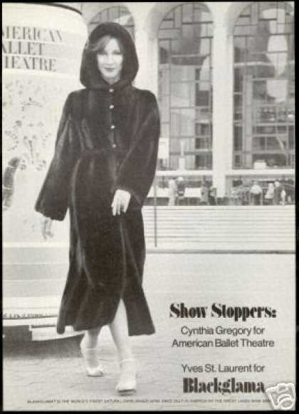 Cynthia Gregory Yves St Laurent Blackglama Mink (1977)