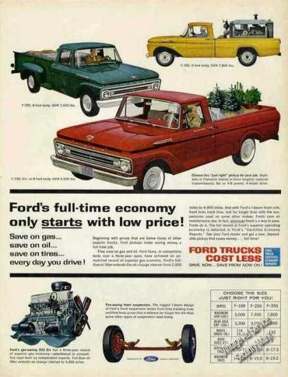 Ford Pickups Full Line-up Nice (1962)