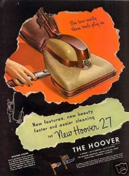 Hoover Vacuum Cleaner Ad Model 27 (1946)