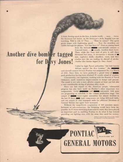 Anther Dive Bomber Tagged Pontiac (1942)