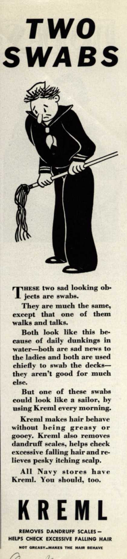 Kreml's hair tonic – Two Swabs (1942)