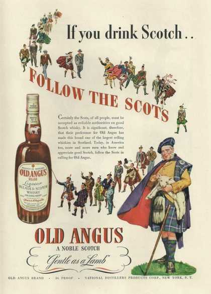 Old Angus Noble Scotch (1942)