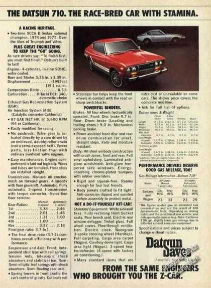 "Datsun 710 ""Race-bred Car"" (1976)"