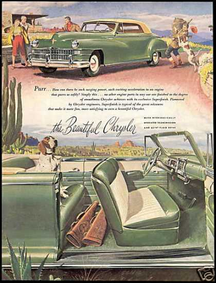 Beautiful Green Chrysler Convertible Vintage (1947)