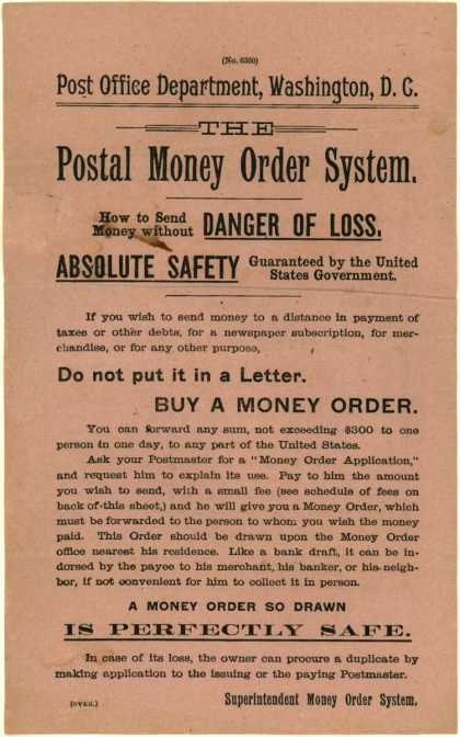 US Post Office's Postal Money Order System – Postal Money Order System