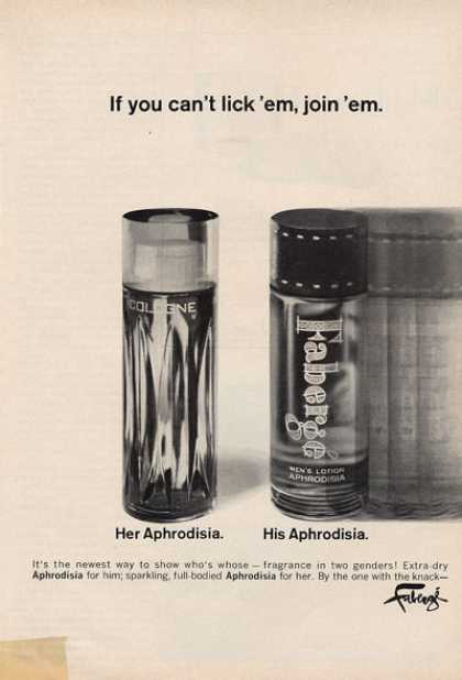 Faberge His Her Aphrodisia Cologne Fragrance (1966)