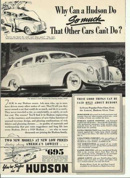 Your Safer In a Hudson Car (1939)