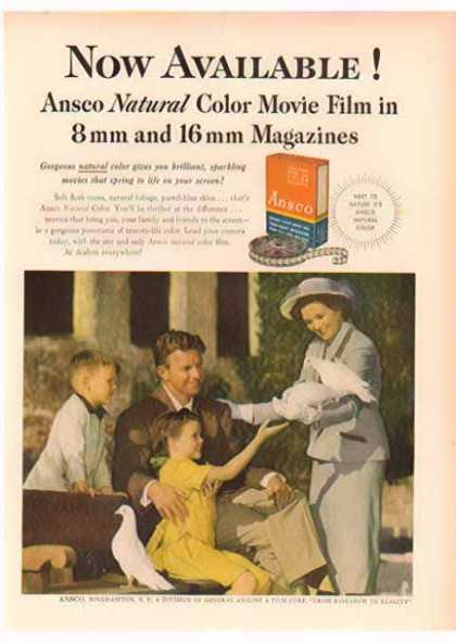 Ansco Color Film – Family with Doves (1951)