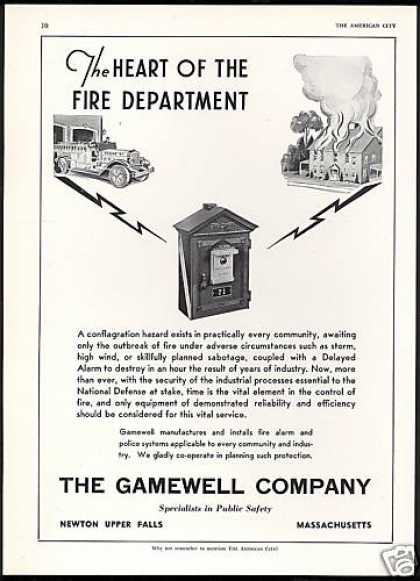 Gamewell Company Fire Alarm Police System (1941)