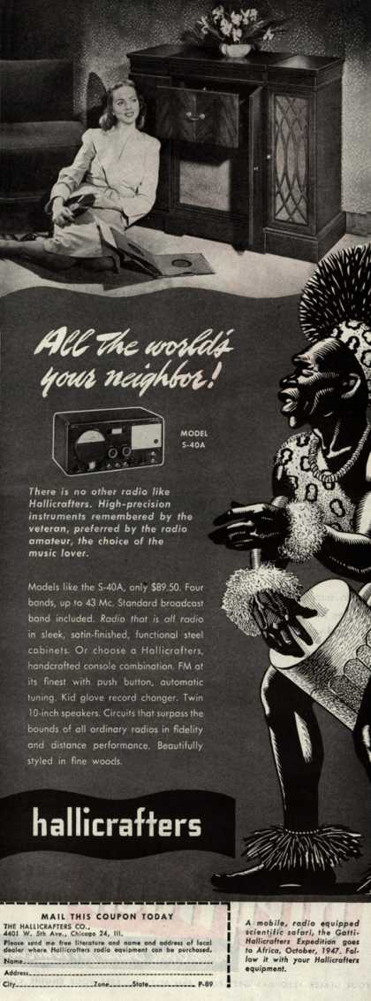 Hallicrafters Company's Radio – All the World's Your Neighbor (1947)