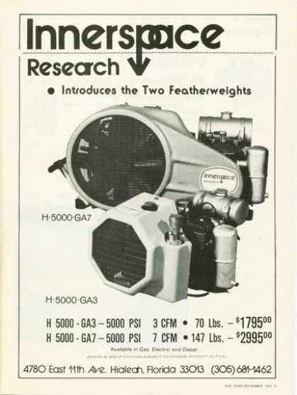 Innerspace Research Scuba Diving Air Compressor (1974)
