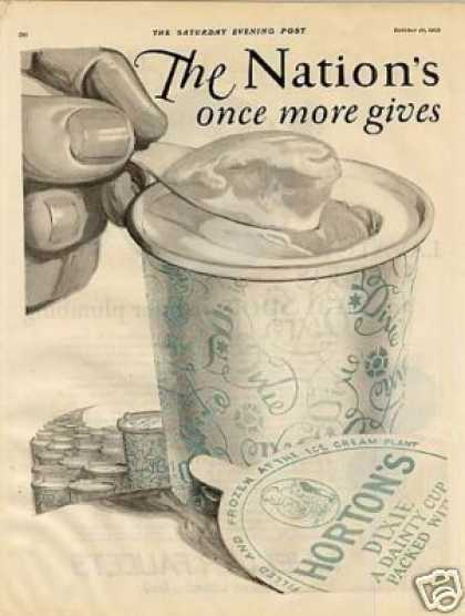 Ice Cream Dixies Cup Ad 2 Page (1925)