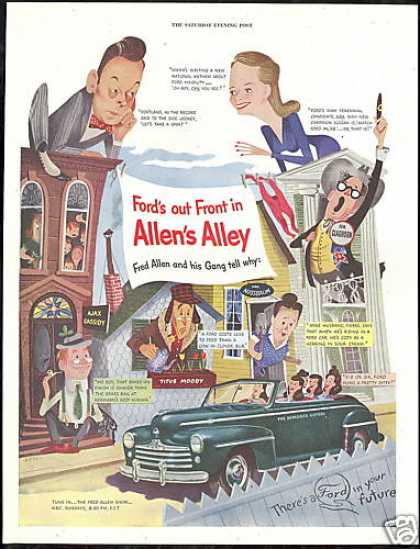 Ford Convertible Car Fred Allen Show (1948)