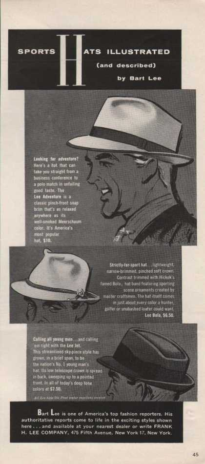 Sports Hats By Bart Lee (1955)