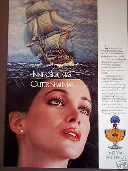 Clipper Ship Art Shalimar Perfume (1977)