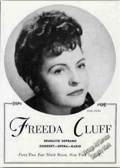 Freeda Cluff Photo Concert Opera Radio (1945)