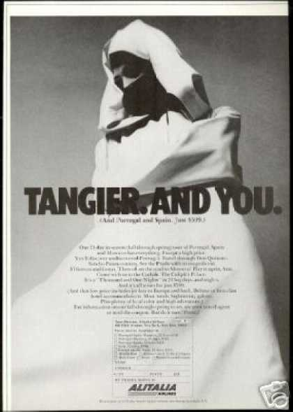 Alitalia Airlines Tangier And You Vintage (1966)