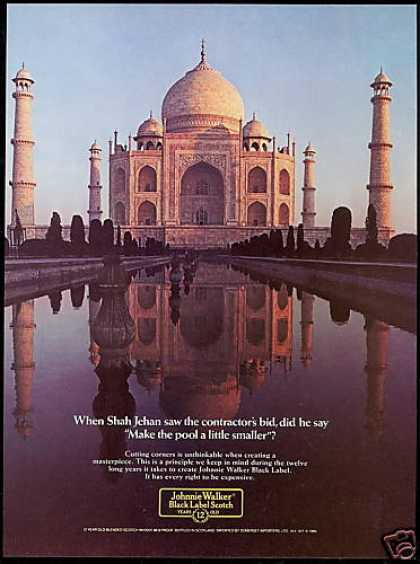 Johnnie Walker Scotch India Taj Mahal (1985)
