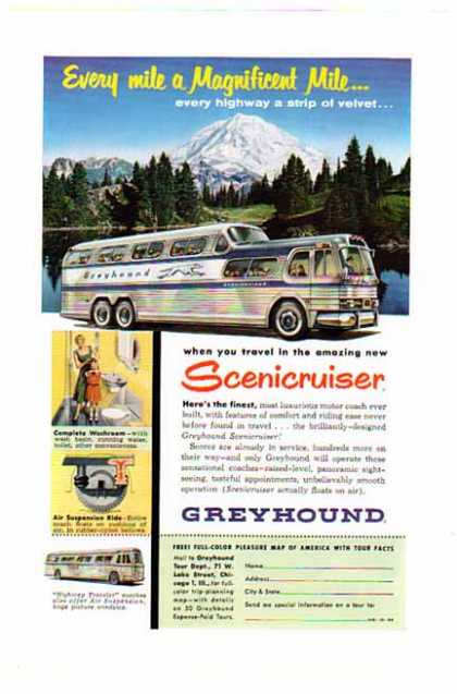 Greyhound Bus – Magnificent Mile... (1954)