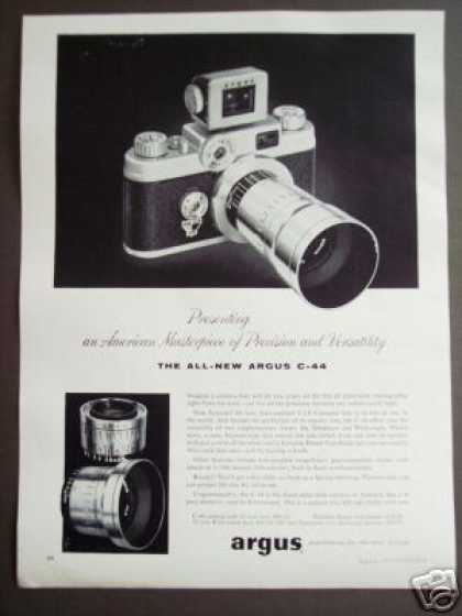 Argus C-44 Telephoto or Wide Angle Lens Camera (1956)