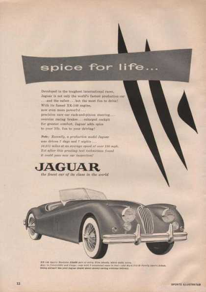 Jaguar Car Spice for Life (1955)