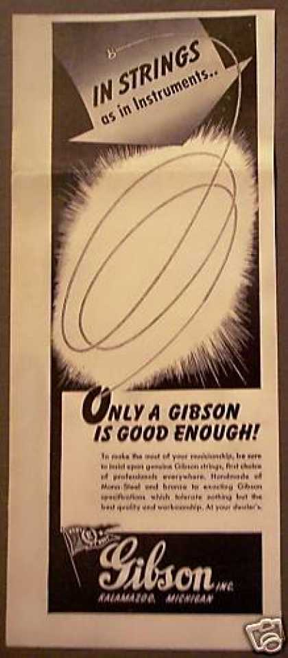Gibson Guitar Strings Music (1946)