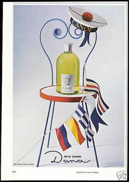 Dana Eau De Cologne Bottle Hat Flags Photo (1966)
