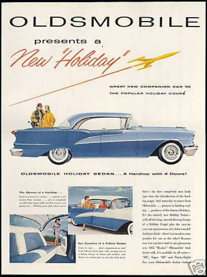 Oldsmobile Holiday 4 Dr Sedan Car Photo (1955)