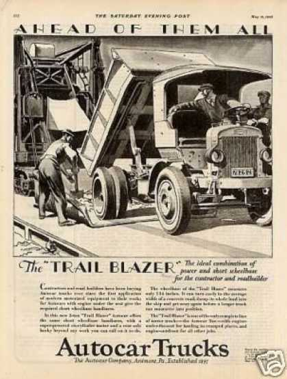 "Autocar Truck Ad ""The Trail Blazer... (1928)"