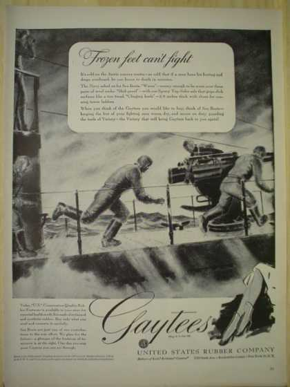 United States Rubber Co. Gaytees. Frozen feet can't fight (1943)