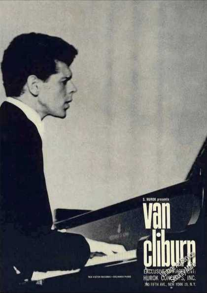 Van Cliburn Photo Pianist Booking (1962)