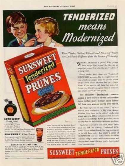 Sunsweet Prunes Color (1936)