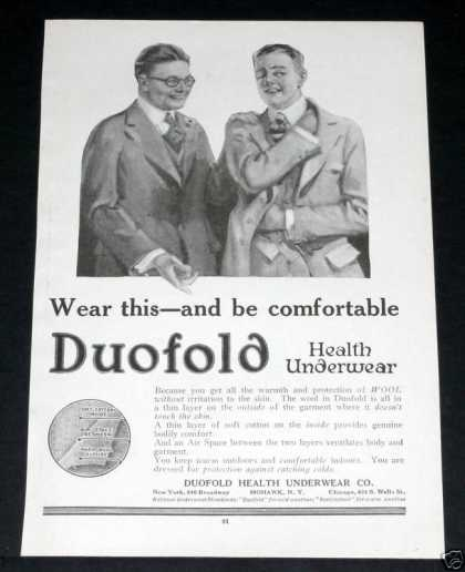 Old , Duofold Health Underwear (1918)