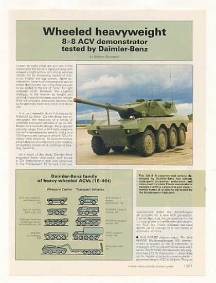 Daimler-Benz 8x8 ACV Armored Vehicle 2-Pg Article (1988)