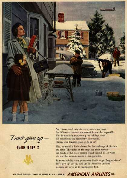 American Airlines – Don't give up- Go up (1949)