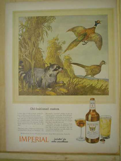Imperial Whiskey AND North American Aviation B-25 Plane (1944)