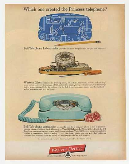 Western Electric Bell Create Princess Telephone (1962)