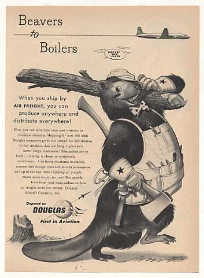 Douglas Aviation Air Freight Beaver art (1953)