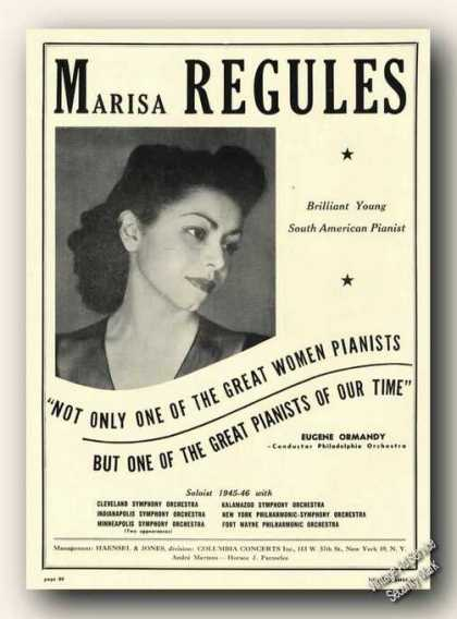 Marisa Regules Photo Piano (1946)