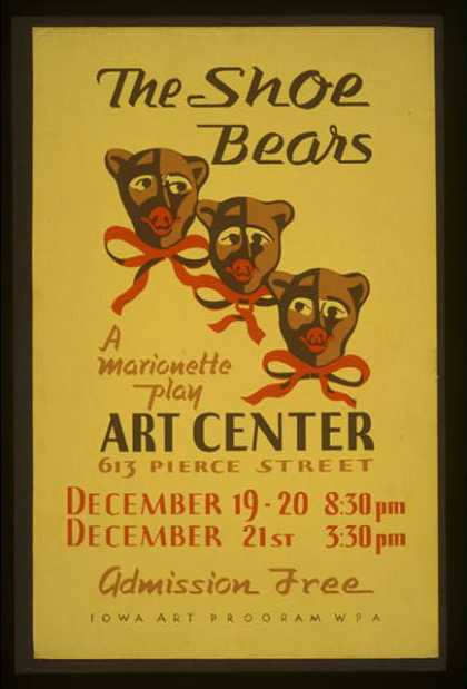 """The shoe bears"" – A marionette play. (1936)"