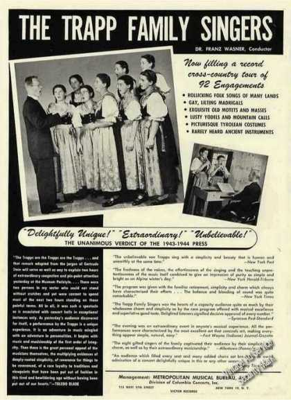 Trapp Family Singers Collectible (1944)