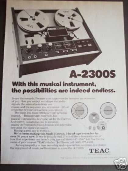 Teac A-2300s Tape Recorder (1976)