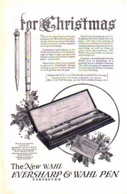 Wahl Eversharp & Wahl Pen – For Christmas (1924)