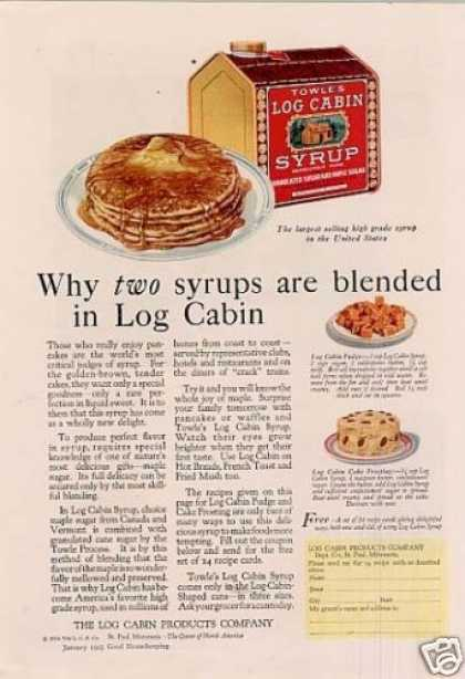 Log Cabin Syrup Color (1925)