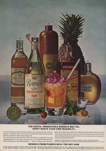 Ronrico Rum Mai-tai Bottle (1962)