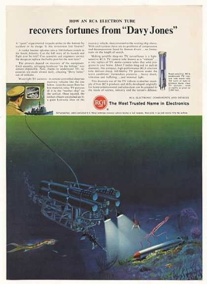 Navy Undersea Recovery Vehicle RCA Vidicon Tube (1966)